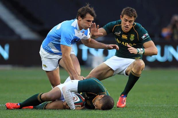 El equipo argentino cayó ante Sudáfrica en su segundo estreno en el Rugby Championship.  Foto:AP