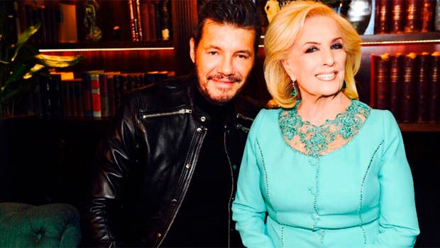 Marcelo Tinelli y Mirtha Legrand en la apertura de ShowMatch 2017