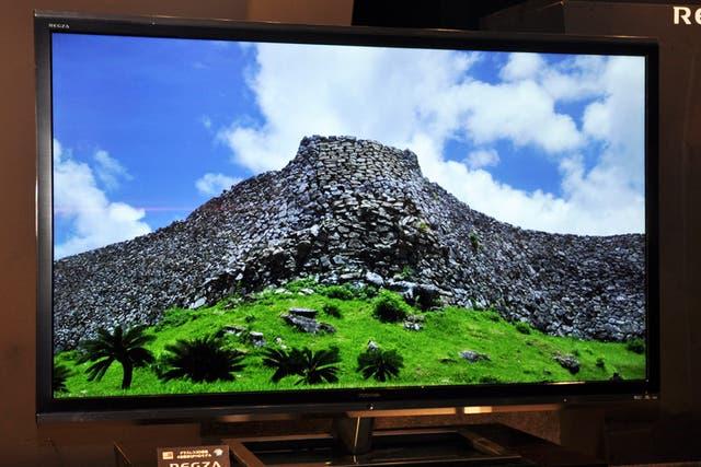 Un panel de Toshiba de 55 pulgadas y resolución 4K