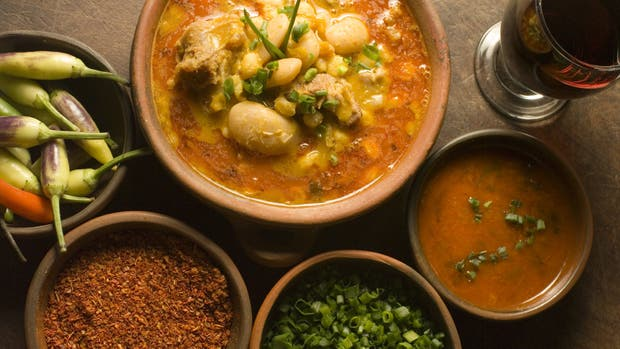 Platos, ingredientes y condimentos de una provincia con buen gusto