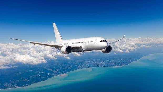Un Boeing en el aire