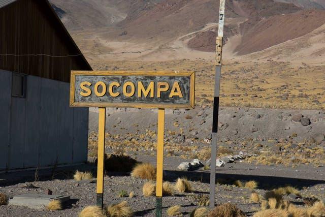 La estación de Socompa, en la frontera entre Argentina y Chile. Hasta aquí llega el ramal C 14 antes de pasar al país vecino. Fotos: Soledad Gil