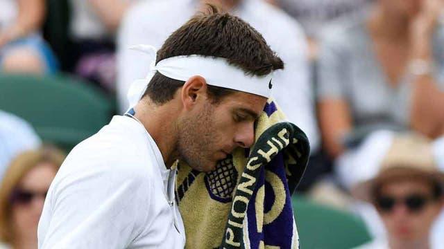 Delpo se despidió de Wimbledon en la segunda rueda