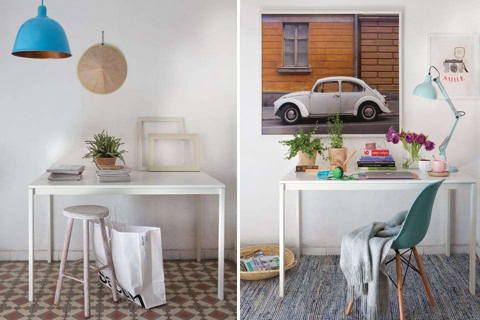 Antes y después: un escritorio cobra vida con pocos recursos