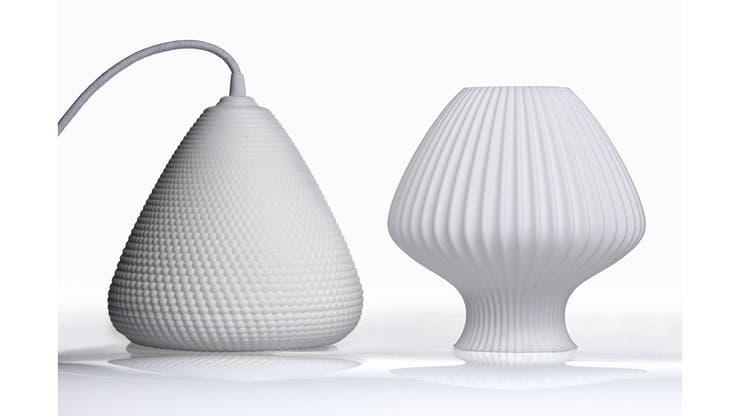 Las lámaparas de Doña 3D, impresas a pedido