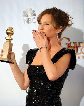 La actriz Melissa Leo no pasó inadvertida para la prensa extranjera, que consideró que su rol secundario en The Fighter merecía un Globo de Oro.. Foto: EFE