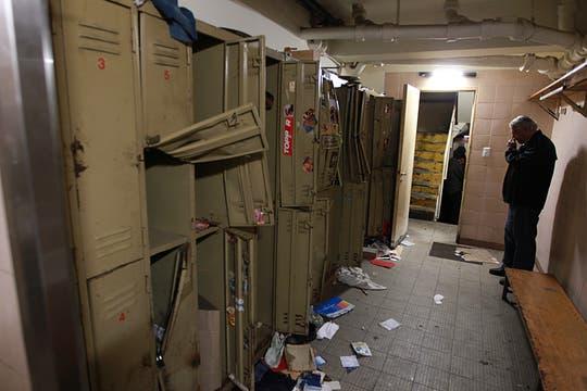 Los casilleros de los empleados fueron violentados. Foto: LA NACION / Aníbal Greco