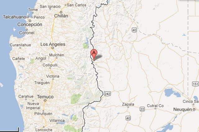 El volcán Copahue está en el límite entre Neuquén y Chile