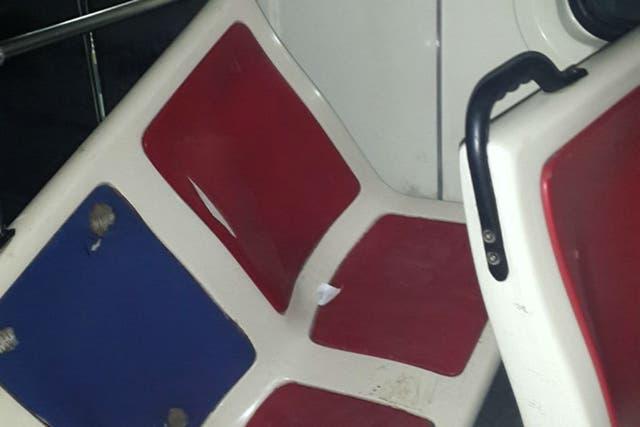 Estos son algunos de los daños ocasionados por los hinchas