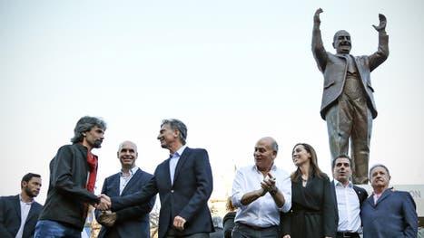 El monumento a Perón inaugurado es el primero de la Capital Federa