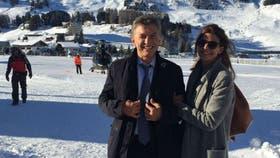 Macri y Awada, en Davos