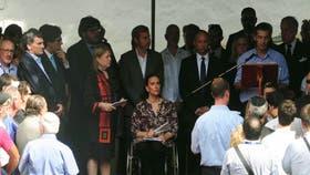 Michetti, Frigerio y Malcorra participaron del acto por los 24 años del atentado a la embajada de Israel