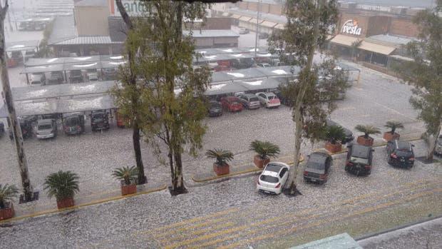 Hubo una tormena de granizo en Córdoba