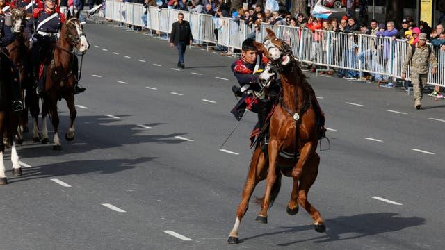 Los Granaderos a Caballo también formaron parte del desfile