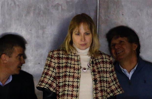 Sandra Schaefer, en el entrepiso de los tribunales de San Isidro, antes de declarar