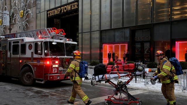 Incendio en la Trump Tower, en Nueva York.