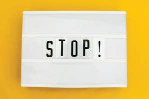 Decile stop! a los pensamientos negativos