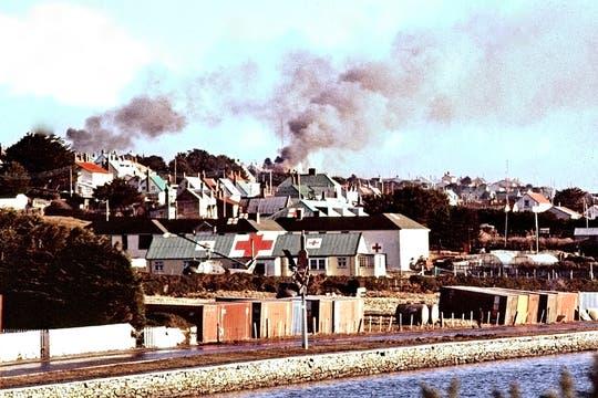 Bombardeo del 1 de mayo de 1982. Foto: Gentileza Diego Pérez Andrade