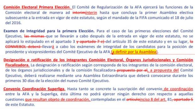 La FIFA podría sancionar a la AFA