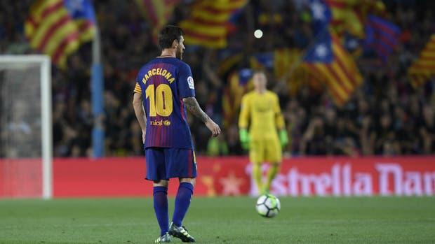 Messi, el homenaje a Barcelona y las banderas de Catalunya