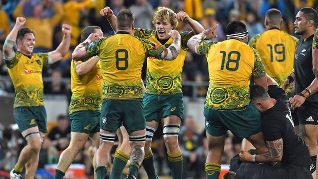 Los All Blacks cayeron ante los Wallabies