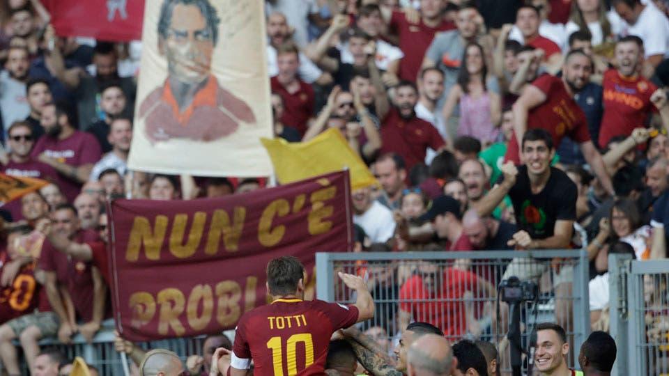 Hasta las lágrimas: así se retiró Francesco Totti, héroe de Roma