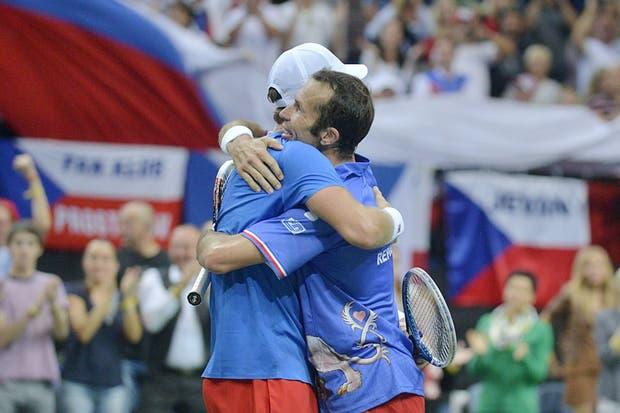 Carlos Berlocq y Horacio Zeballos poco pudieron hacer ante los checos Tomas Berdych y Radek Stepanek.  Foto:EFE
