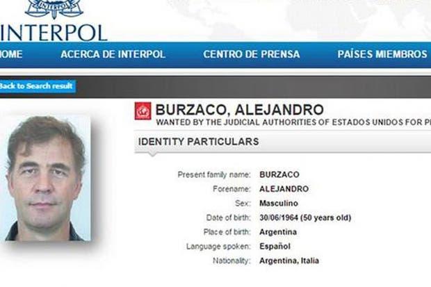 La orden de captura que libró Interpol