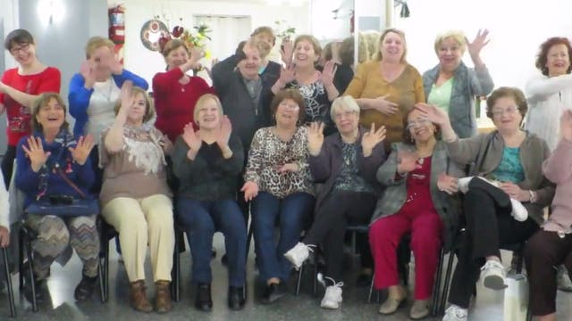 Las integrantes del Taller de la Memoria del Centro de Jubilados El Reencuentro de Los Amigos