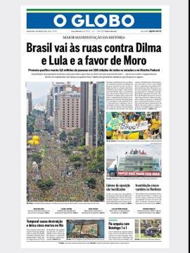 O Globo: La insatisfacción de la gente aumenta la presión sobre el gobierno, en una semana decisiva.