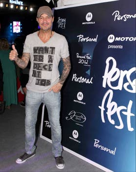 ¡Qué canchero! Marcelo Tinelli en el festival de música. Foto: Urban
