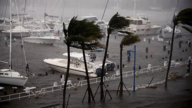 En la marina de Coconut Grove los barcos fueron arrastrados hacia la costanera