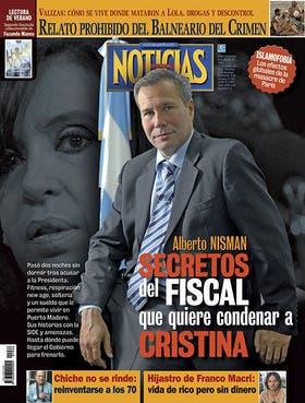 Días antes de la muerte de Nisman, su ex mujer recibió una foto del fiscal con una sugestiva marca en la cabeza