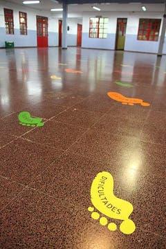 El hall central de la escuela. Foto: LA NACION / Matías Aimar