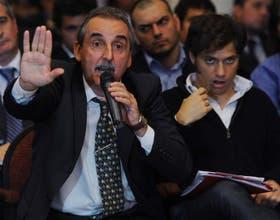 Moreno y Kicillof en asamble ade accionistas del Grupo Clarín
