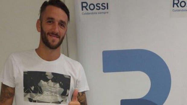 Gonzalo Rodríguez, tras la revisión médica previa a incorporarse a San Lorenzo