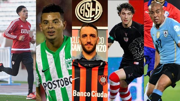 Enzo Pérez, Edwin Cardona, Gonzalo Rodríguez, Fernando Amorebieta y Arevalo Ríos