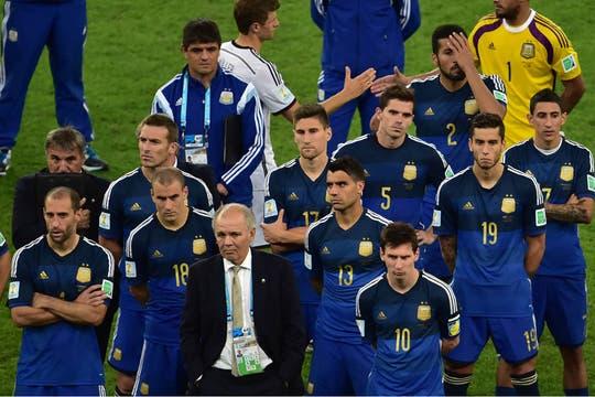 La tristeza de los jugadores. Foto: AFP