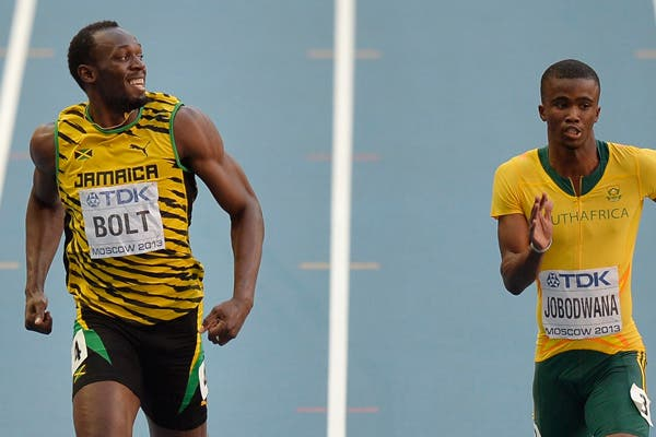 Usain Bolt, en acción