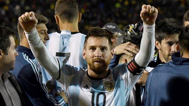 Messi, la gran figura de la selección