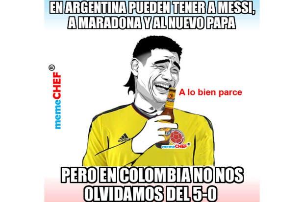 En Colombia se acordaron de Argentina.