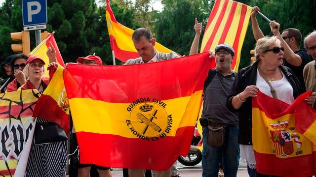 Continúan las protestas en Catalu