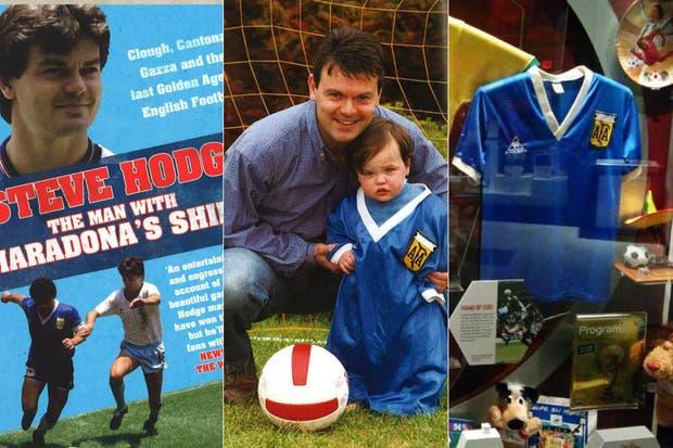 Hodge escribió el libro El hombre con la camiseta de Maradona; se sacó fotos con su hijo, y luego de 16 años la donó a un Museo