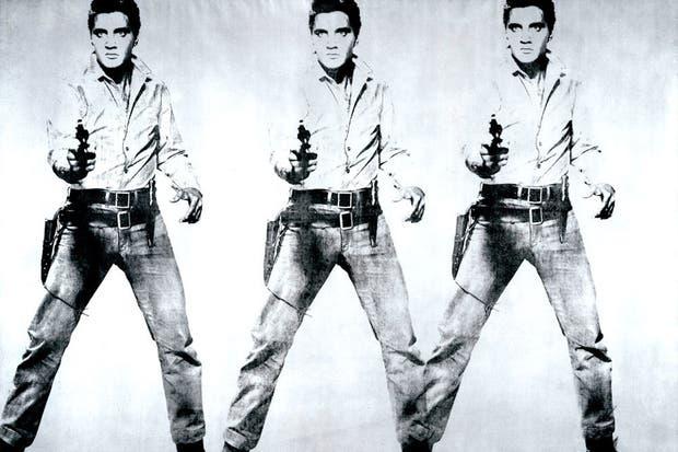 """""""Triple Elvis"""", pintura de Andy Warhol ."""