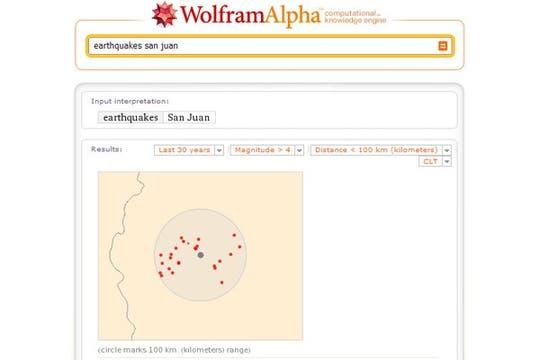 Epicentros de terremotos de más de 2 grados en San Juan. Foto: lanacion.com