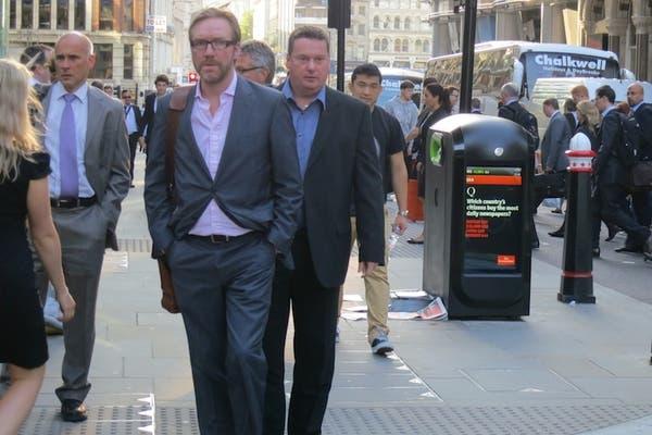 Uno de los cestos con Wi-Fi instalados en Londres