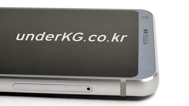 Otra vista del frente y del lateral del LG G6. según Underkg.co.kr