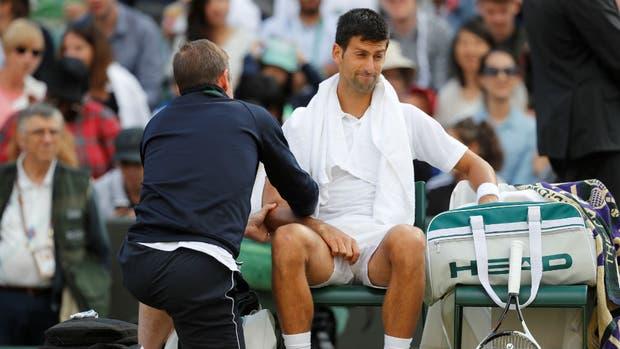 Resultado de imagen de Djokovic lesion