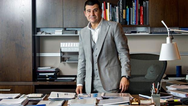 Galuccio, el viernes pasado, durante su entrevista con LA NACION