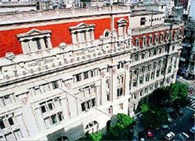 En el frente sobre Uruguay del Palacio de Tribunales, el sector de la prueba piloto de recuperación